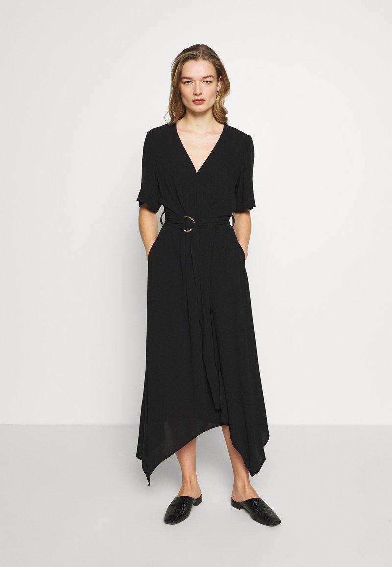 Banana Republic - RING WRAP SOLID - Day dress - black