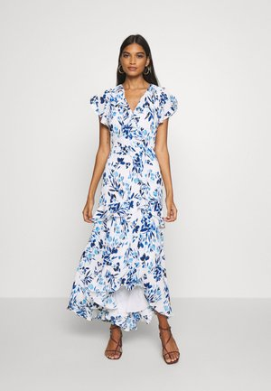 VNECK HI LOW - Maxi-jurk - blue