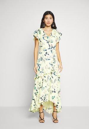 VNECK HI LOW - Maxi dress - yellow floral