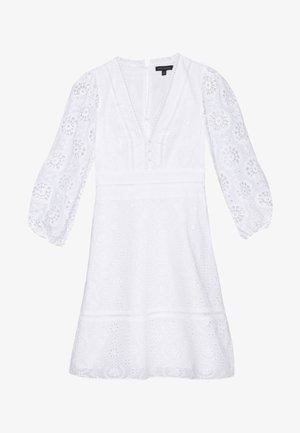 EYELET SHIFT - Kjole - white