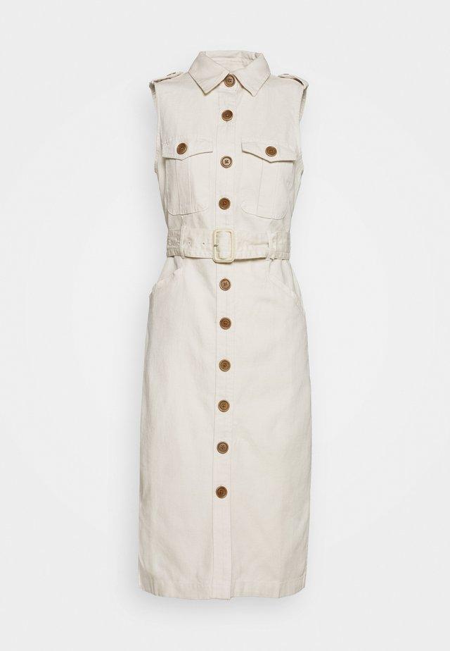 BAHIA DRESS - Shirt dress - transition cream