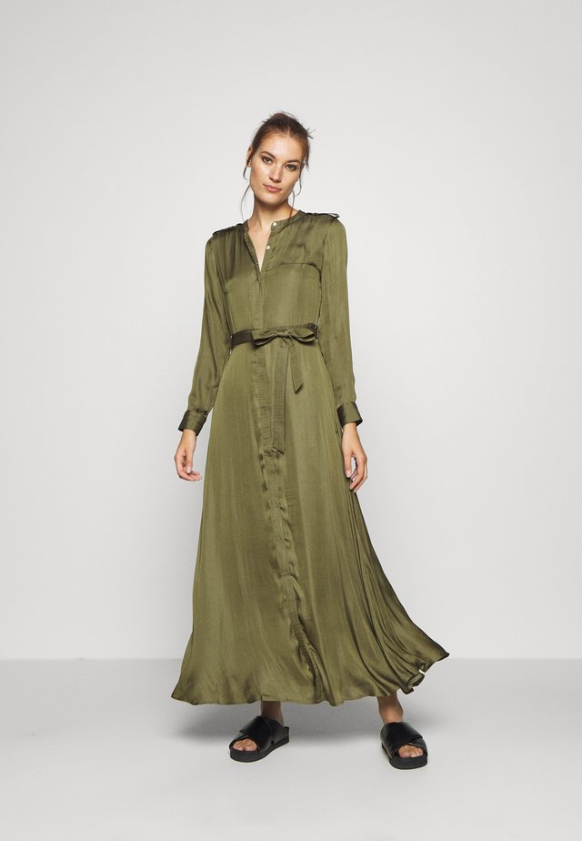 TRENCH MAXI DRESS - Robe chemise - jungle olive