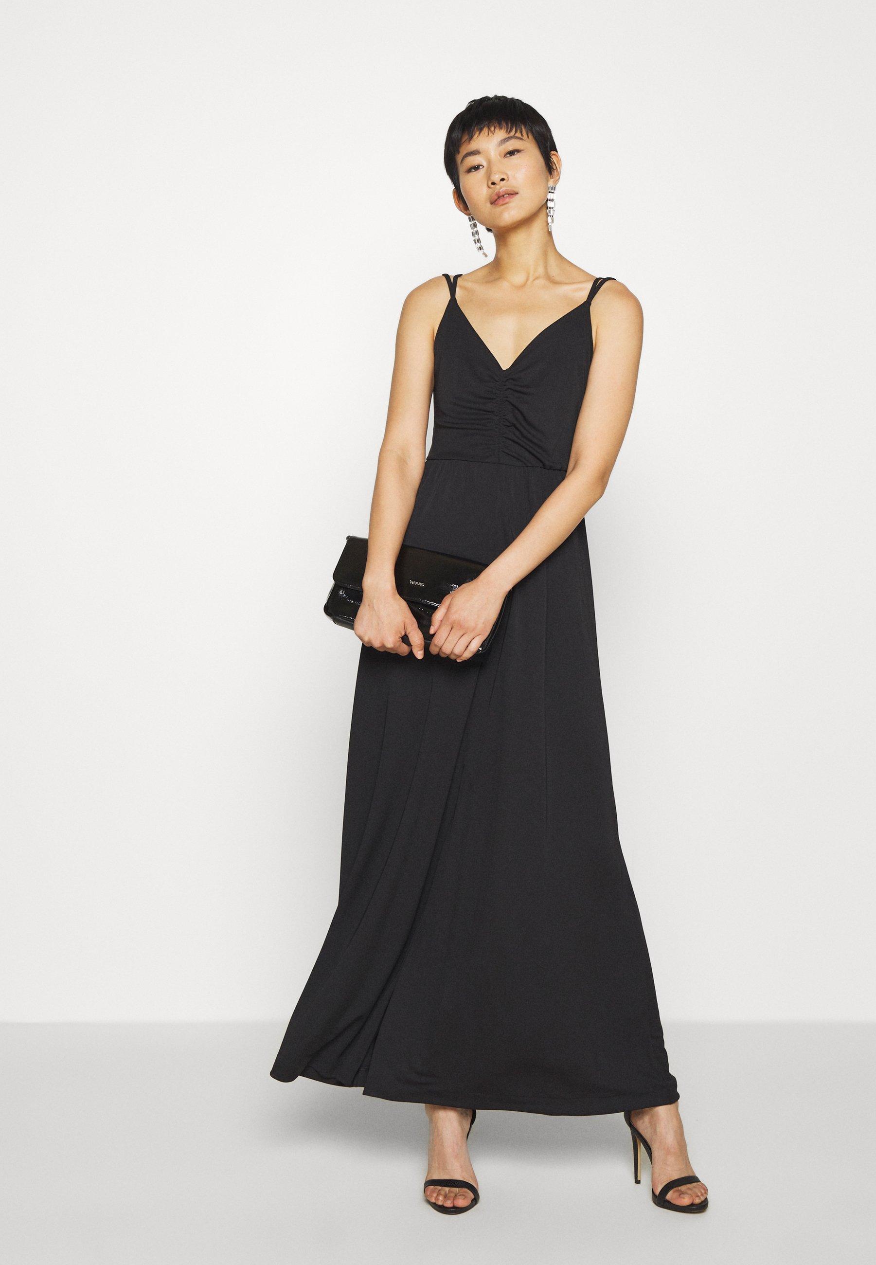 Banana Republic Strappy Matte - Maxi Dress Black