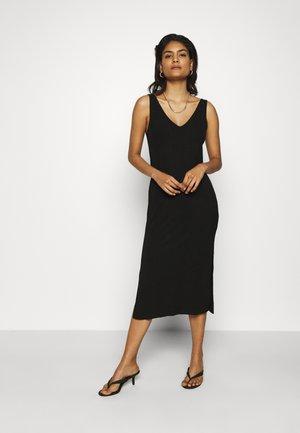 DOUBLE V COLUMN - Jersey dress - black