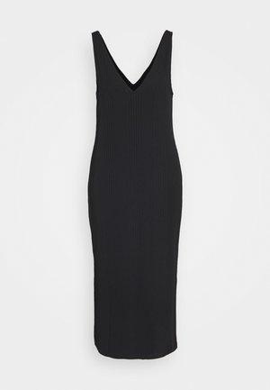 DOUBLE V COLUMN - Vestito di maglina - black
