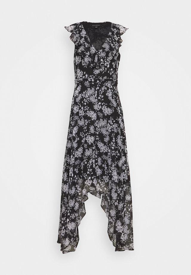 RUFFLE - Vestito lungo - black