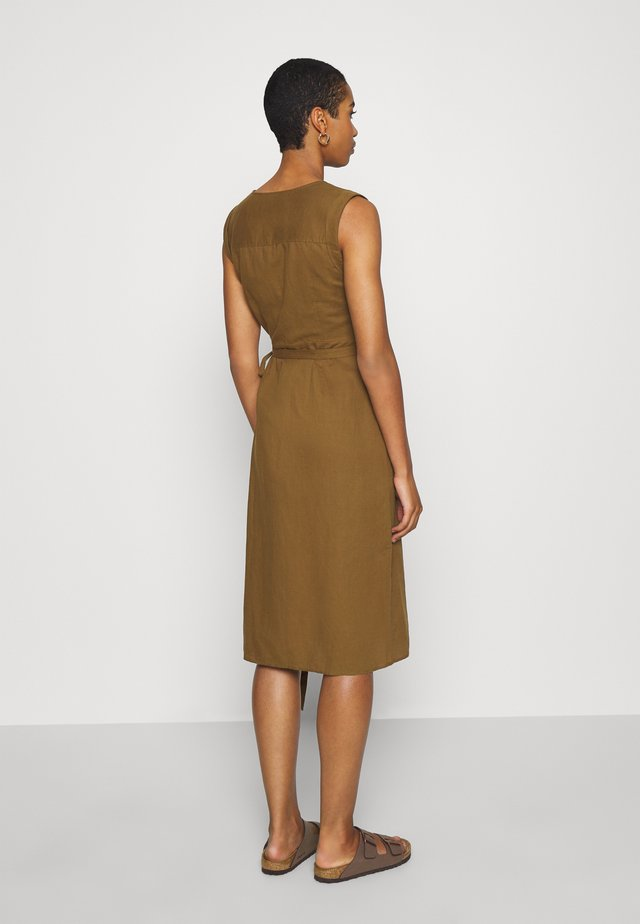 WRAP - Day dress - cindered olive