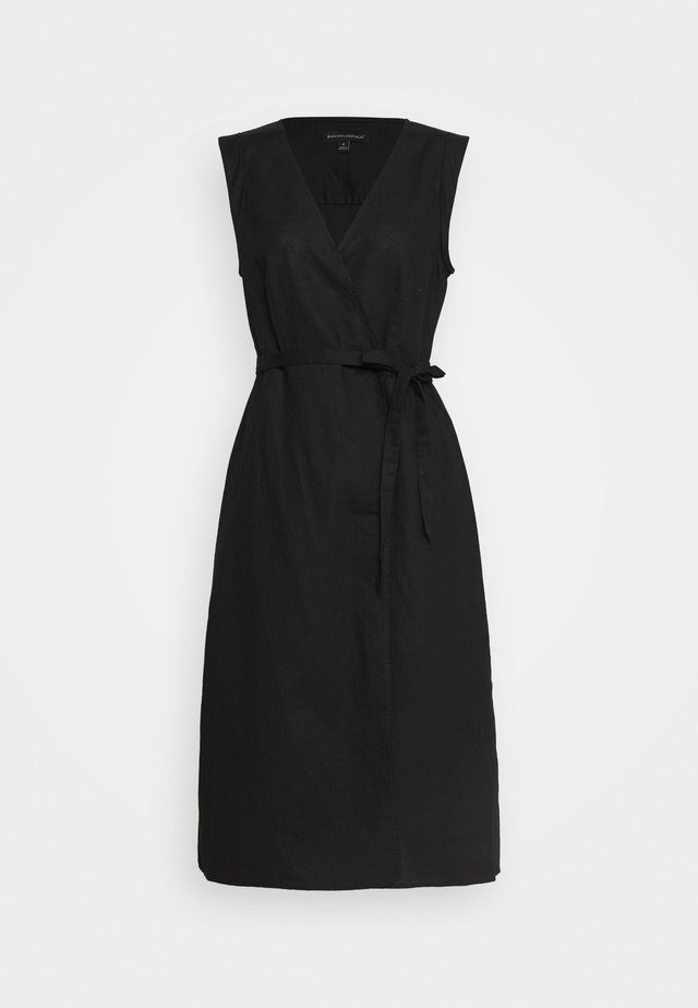 WRAP - Korte jurk - black