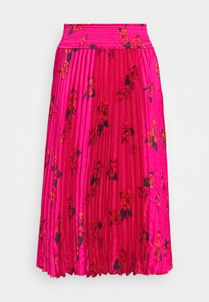 PLEATED MIDI SMOCKED WAISTBAND - Gonna a campana - midnight floaty