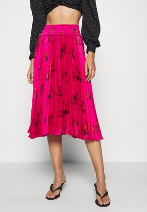 PLEATED MIDI SMOCKED WAISTBAND - A-line skirt - midnight floaty
