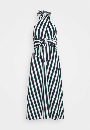 CROSS FRONT HALTER STRIPE - Korte jurk - bright downtown/green