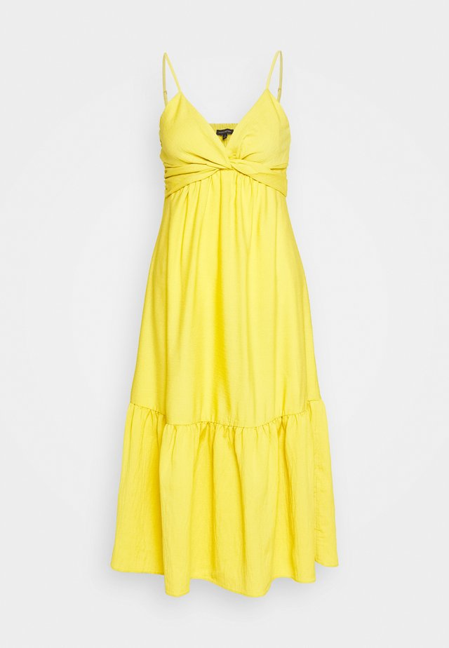 VNECK TWIST FRONT SHEATH SOLID - Robe d'été - sunglow yellow