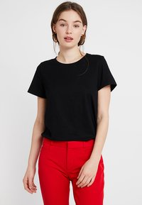 Banana Republic - SUPIMA CREW RELAUNCH - T-shirt basic - black - 0