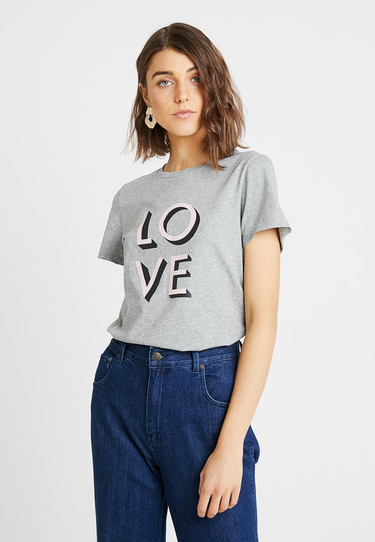Banana Republic - CREW LOVE - T-shirts print -  grey