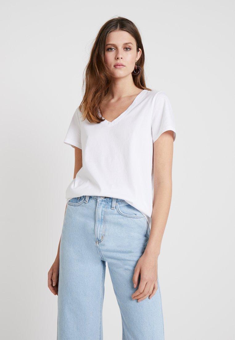 Banana Republic - VEE RELAUNCH - T-Shirt basic - white