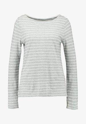 BOATNECK SLUB - Camiseta de manga larga - grey/offwhite