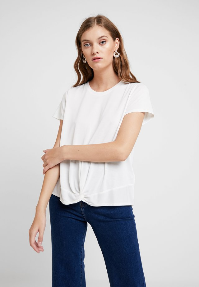 KNOT FRONT TEE - T-Shirt print - snow day