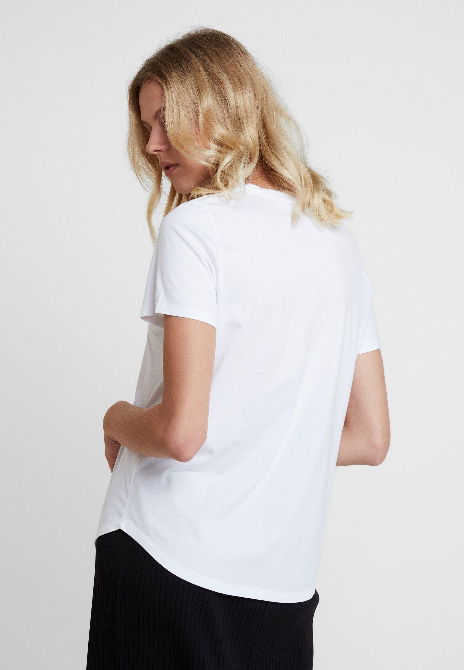 Banana Imprimé White shirt Crew Republic Si BonT Supima Cest UVpSzM