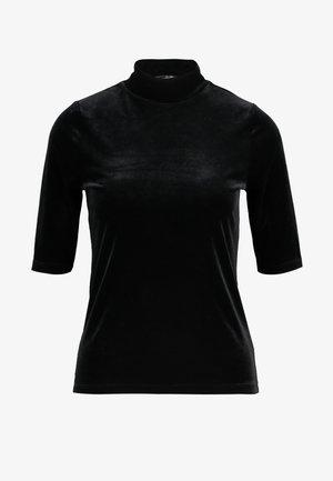 ELBOW MOCK NECK TEE - Print T-shirt - black