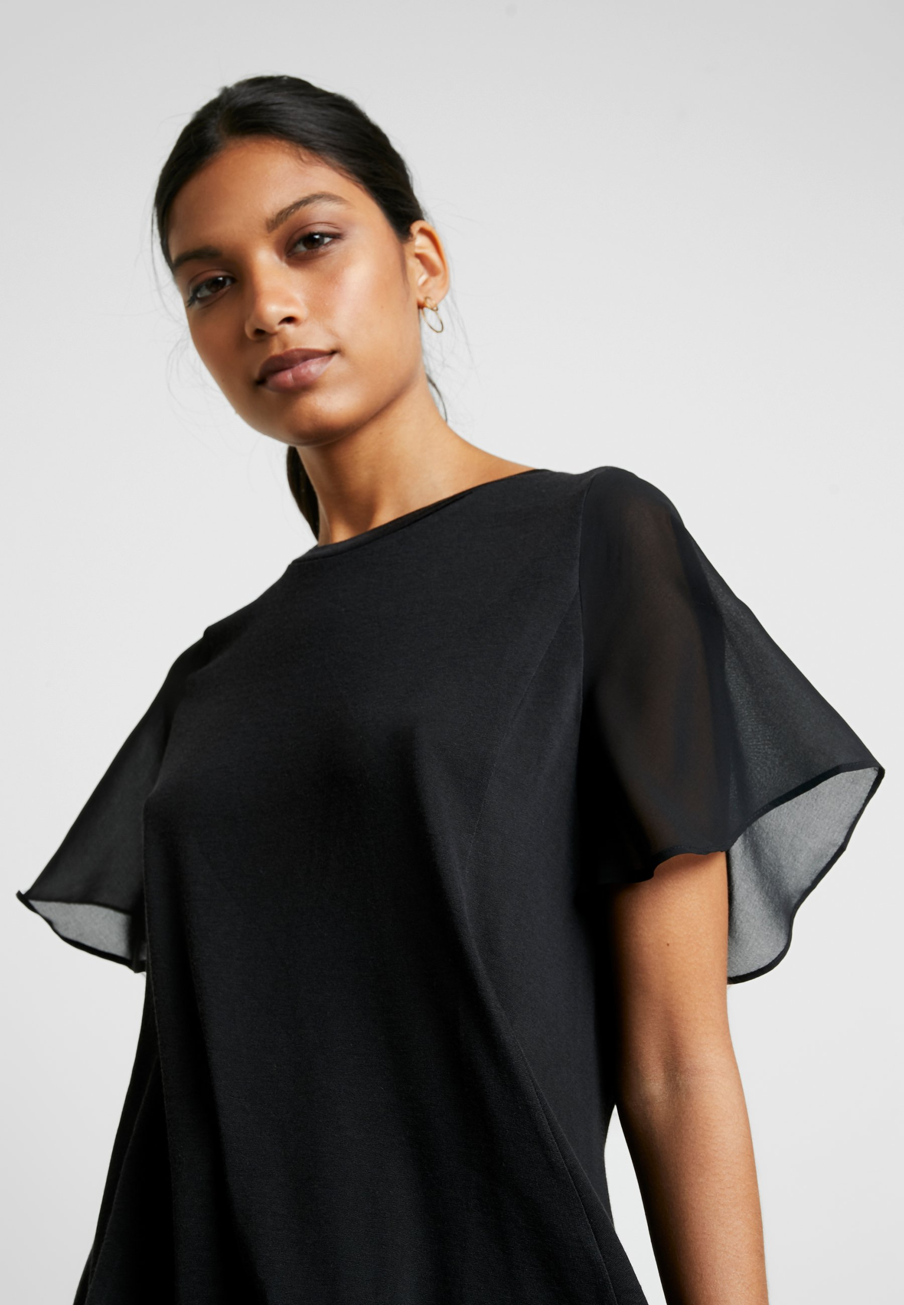 Banana Republic MIXED MEDIA TEE - T-shirt z nadrukiem - black