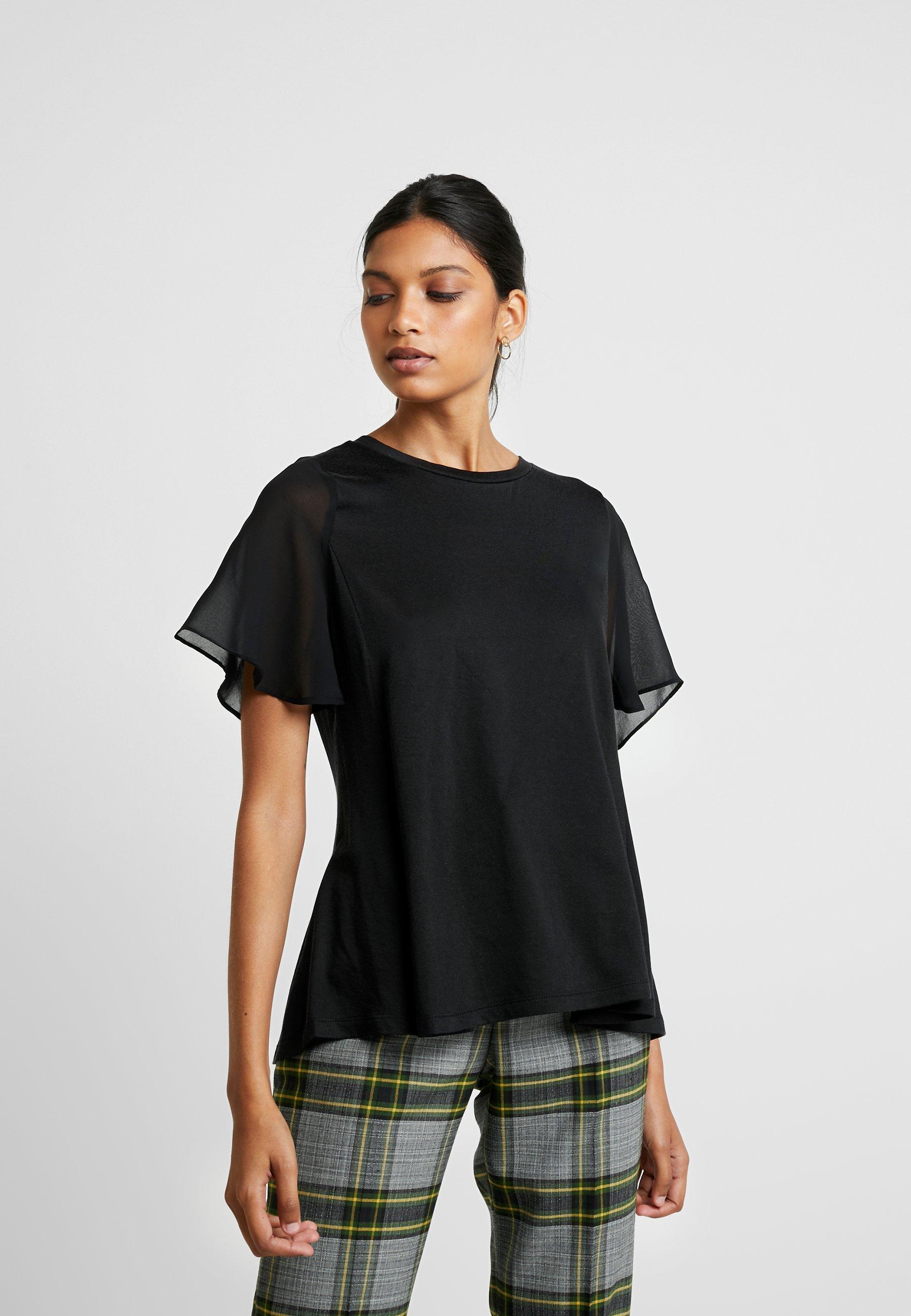 Banana Republic MIXED MEDIA TEE - T-shirts med print - black