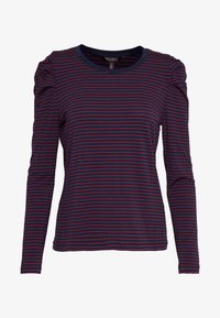 Banana Republic - RUCHED PUFF SLEEVE THREADSOFT - Long sleeved top - navy/red - 4