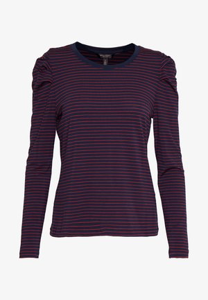 RUCHED PUFF SLEEVE THREADSOFT - Maglietta a manica lunga - navy/red