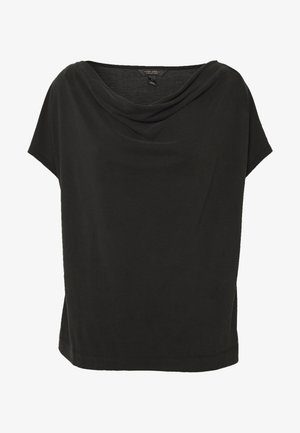 SANDWASH COWL TOP - Print T-shirt - black