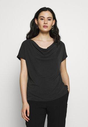 SANDWASH COWL TOP - T-shirt con stampa - black