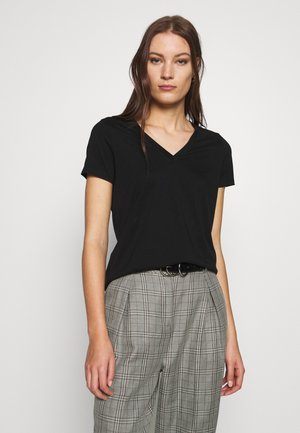NEW SUPIMA VEE - Basic T-shirt - black