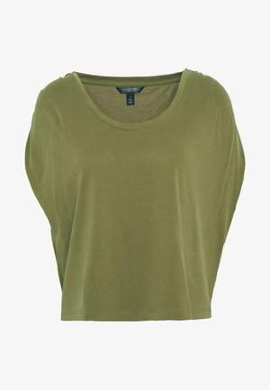 SHORT SLEEVE RUCHED - T-shirt con stampa - spanish olive