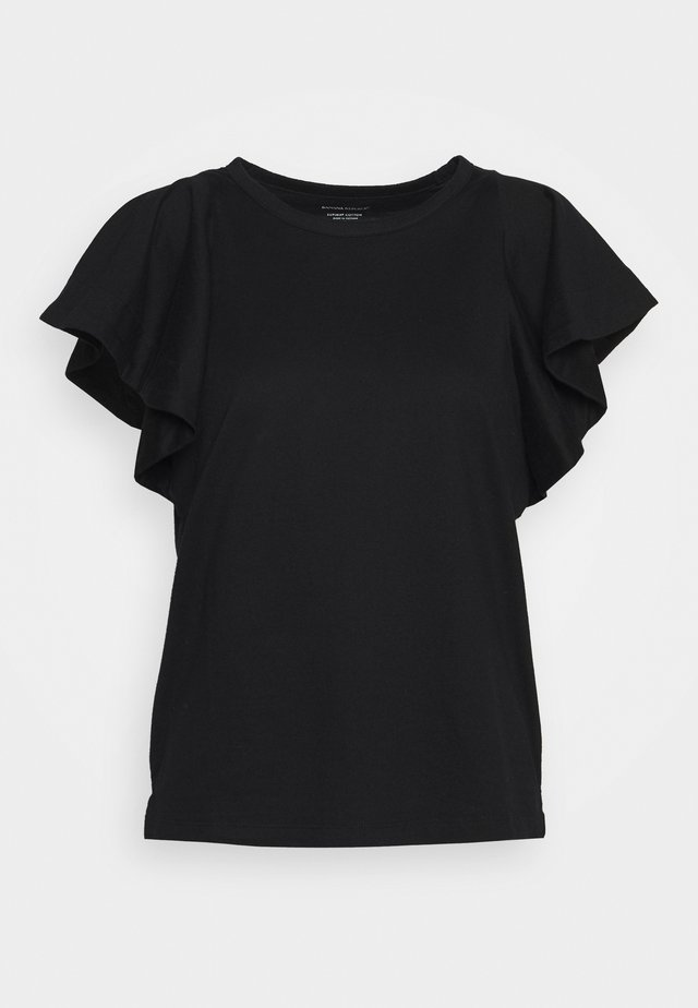 FLOUNCE SLEEVE - T-shirt con stampa - black