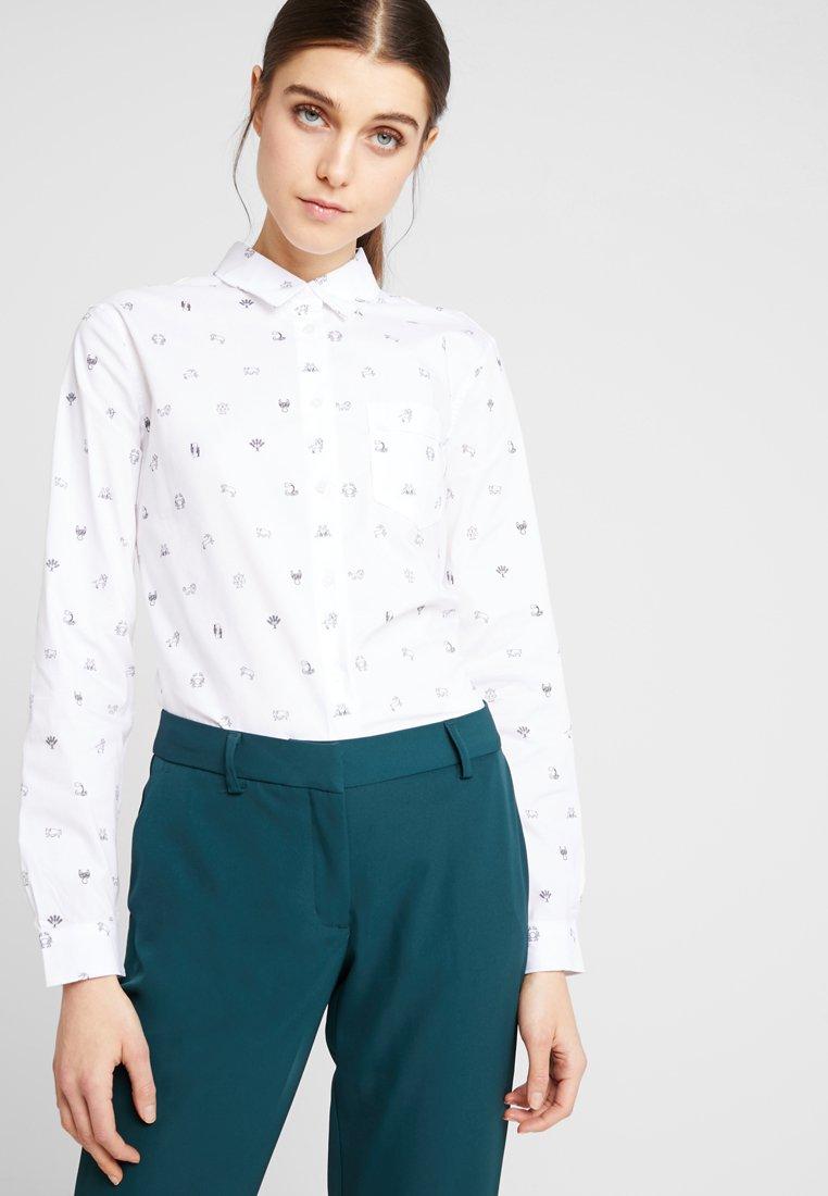 Banana Republic - QUINN ZODIAC CONVERSATIONAL  - Button-down blouse - vwhite