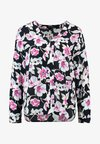 Banana Republic - HIGH LOW PIPED VEE BRUSHED FLORAL - Blouse - navy