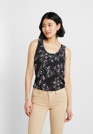 SCOOP TANK BLOUSE MARILYN FLORAL - Camicetta - black
