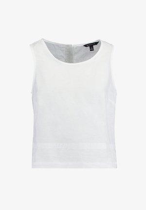 BUTTON BACK - Bluzka - white
