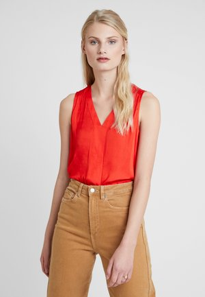 HIGH LOW PIECED  - Camicetta - hot red