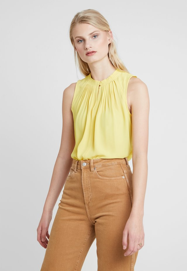 PLEATED NECK - Camicetta - dandelion yellow