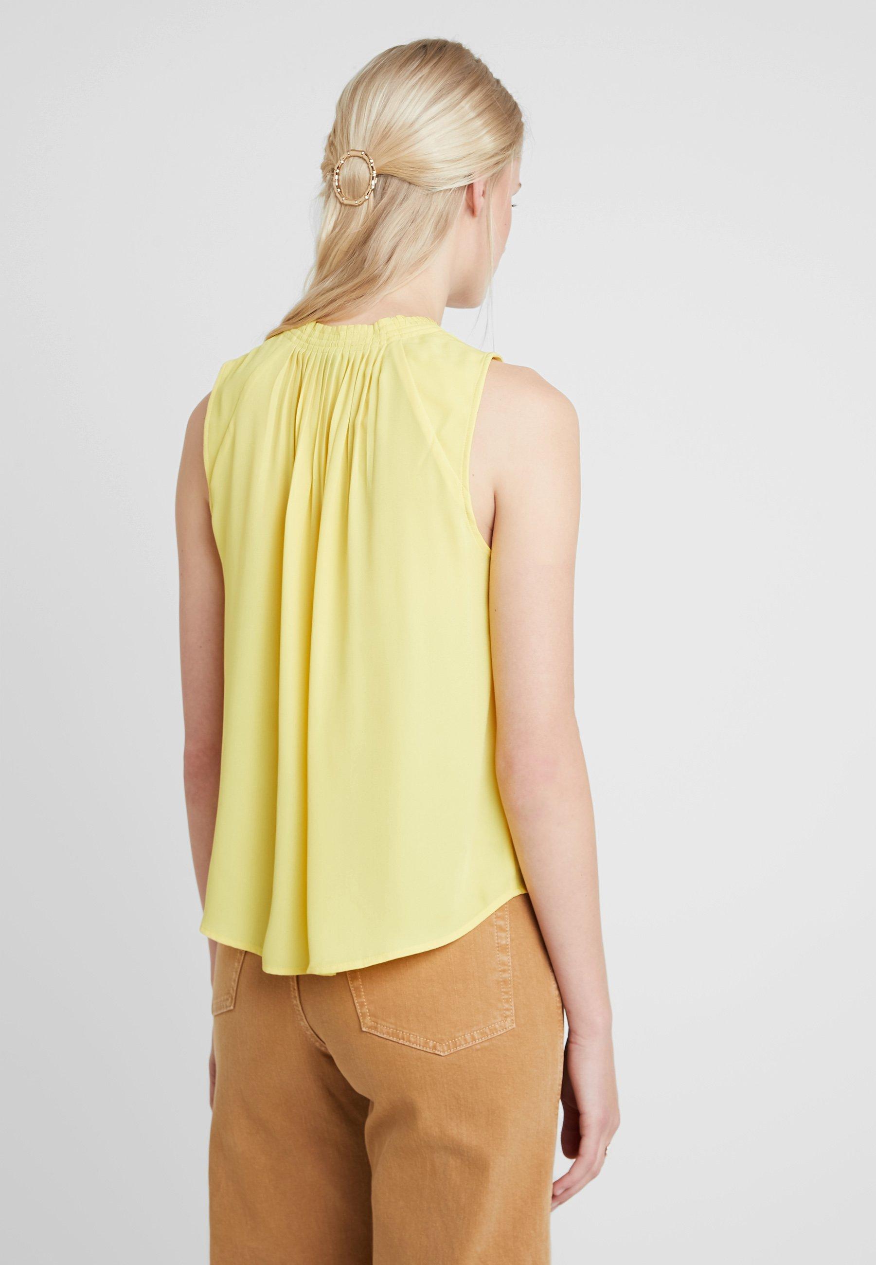 Banana Republic PLEATED NECK - Blouse dandelion yellow