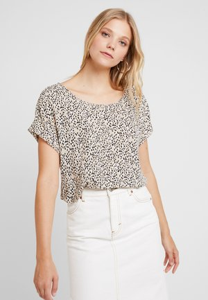 PICOT TRIM BLOUSE - Camicetta - brown