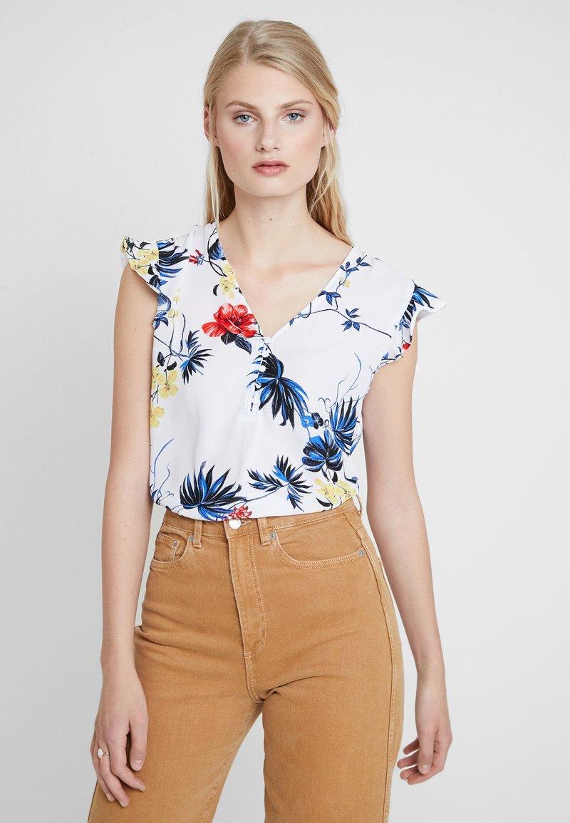Banana Republic - RUCHED SHOULDER FLUTTER - Camicetta - paradiso tropical