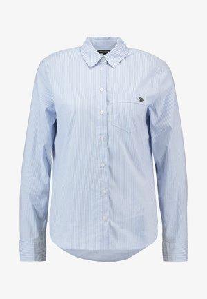 QUINN EMBROIDERED STRIPE - Camicia - light blue