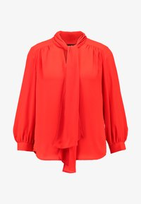 Banana Republic - 3/4 SLEEVE TIE NECK BLOUSE - Blouse - hot red - 4