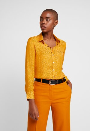 DILLON - Button-down blouse - mustard