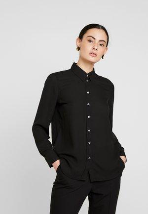 DILLON CLASSIC - Button-down blouse - black