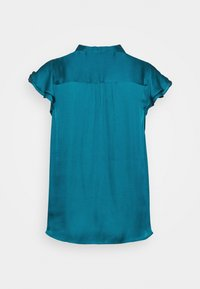 Banana Republic - FLUTTER SLEEVE TIE NECK SOLIDS - Blouse - underwater turq - 1