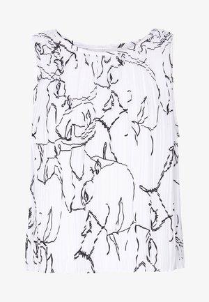 MICRO PLEAT - Blusa - white