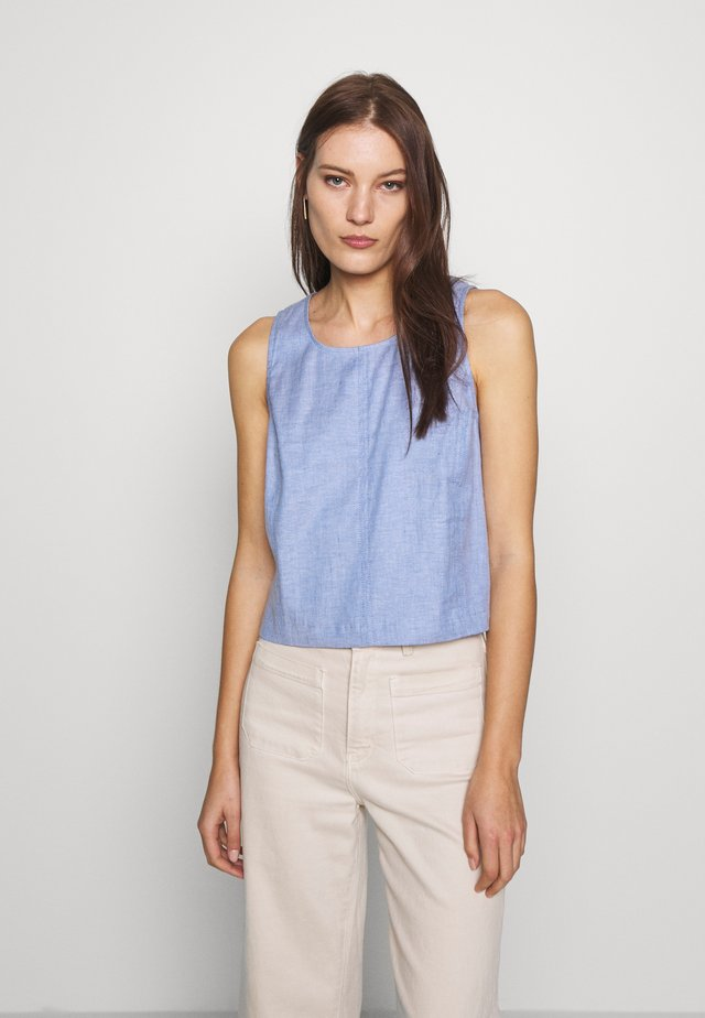 SHELL - Blus - chambray blue