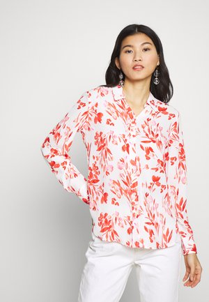 DILLON PRINTS - Button-down blouse - red