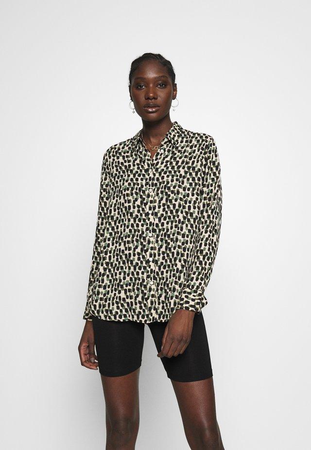 DILLON PRINTS - Button-down blouse - beige